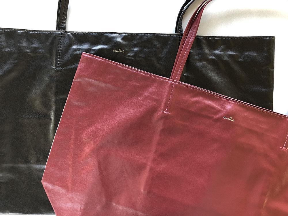 エアリスト トートバッグ 赤 黒 トレンドカラー