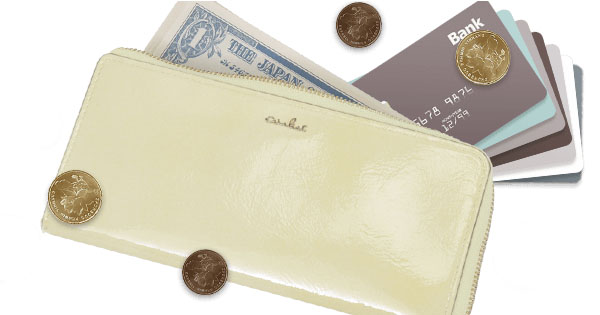 軽い財布エアリストのファスナー長財布